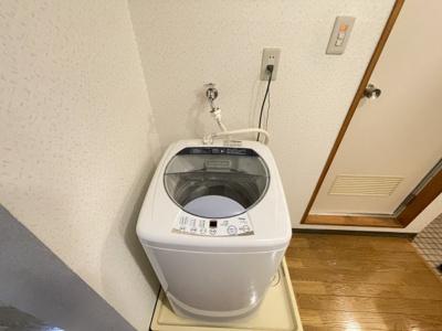 室内にある洗濯機置き場