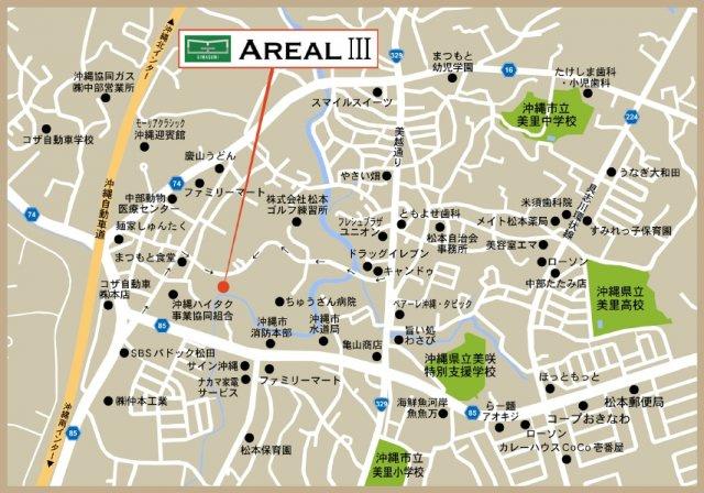 【地図】AREALⅢ Dタイプ