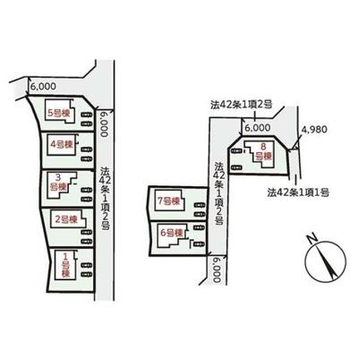 【区画図】リーブルガーデンS野洲市西河原4期