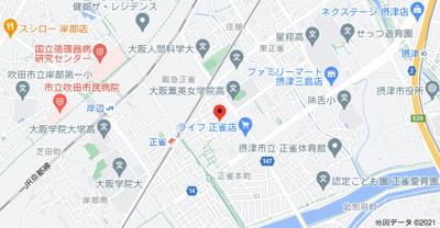 【地図】フローリッシュ正雀本町