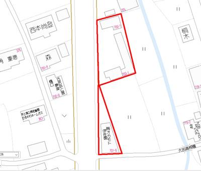 【地図】伊佐市大口大田 テナント2棟