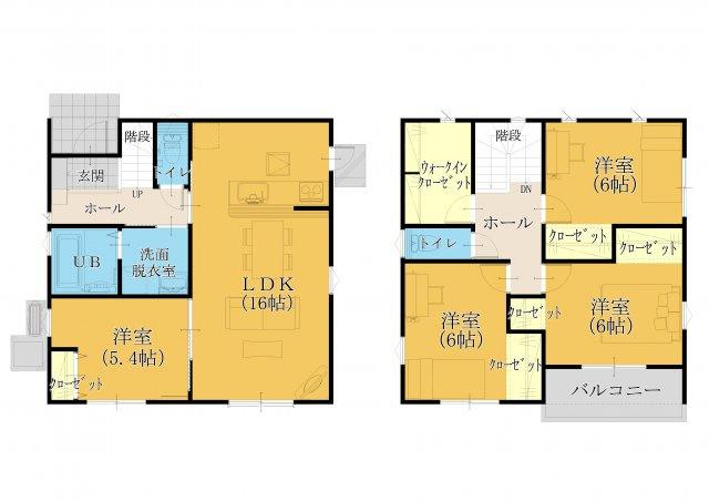30坪4SLDK。全室フローリング設計☆和室は必要ないかなぁ…というご家族にオススメです!