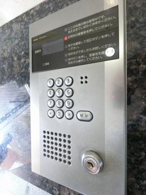 オートロックのスイッチパネルです。