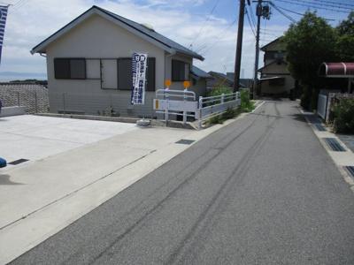 【前面道路含む現地写真】神戸市垂水区塩屋北町2丁目新築