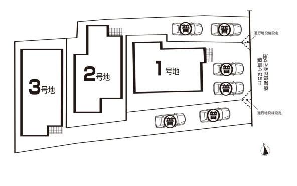 区画図です。1号地です。
