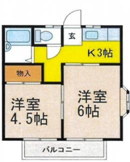 栃木県下野市下古山一棟アパート