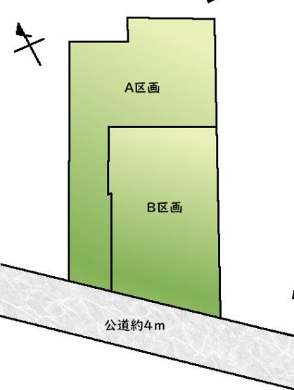 【区画図】目黒区祐天寺1丁目 建築条件付き売地