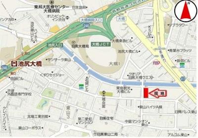 【地図】東邦目黒マンション