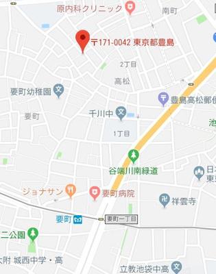 【地図】ハリントンテラス