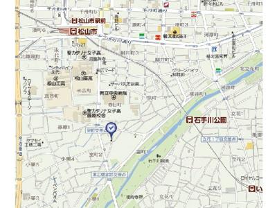 【地図】ハイツ浜