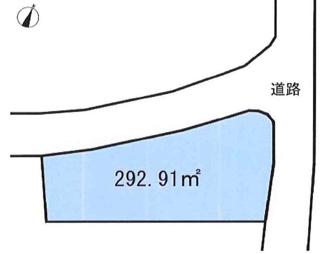 【土地図】坂戸市中小坂 建築条件なし売地 西武新宿線『本川越駅』バス26分 【上谷小学区】