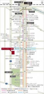 【地図】プレミスト三鷹