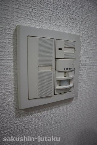 玄関の人感センサーライト