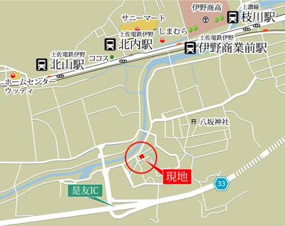 【地図】いの町