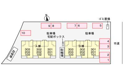 【区画図】ファインアヴェニューサイドB