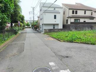 【前面道路含む現地写真】建築条件なし売地 国立市富士見台1丁目 区画1