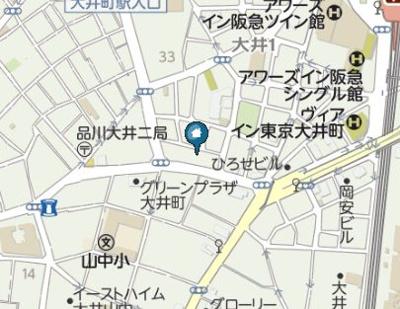 【地図】グランヴァン大井町Ⅱ