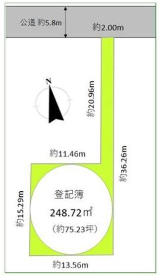 【土地図】松戸市古ヶ崎4丁目