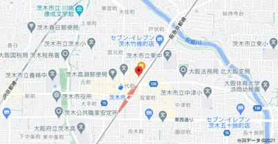 【地図】ニュー阪急フロントビル