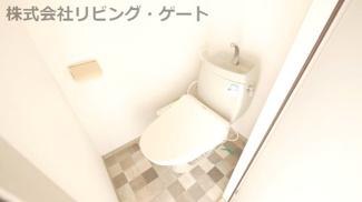 温水便座付きトイレ。
