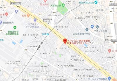 【地図】グランヴァン東池袋Ⅱ