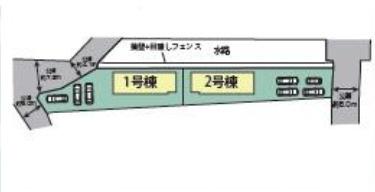 【区画図】高崎市倉賀野町 2号棟