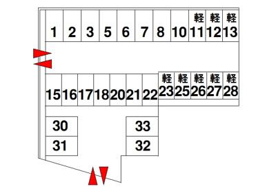【区画図】三宅町伴堂モータープール