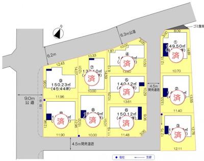 【区画図】鴻巣市天神3丁目 新築分譲住宅全10棟