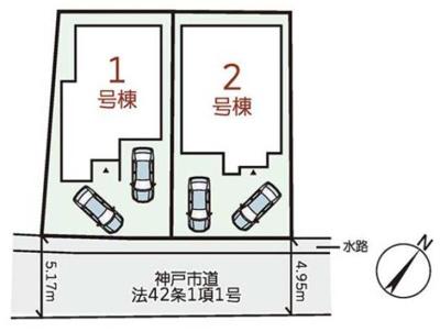 【区画図】神戸市垂水区狩口台 新築戸建