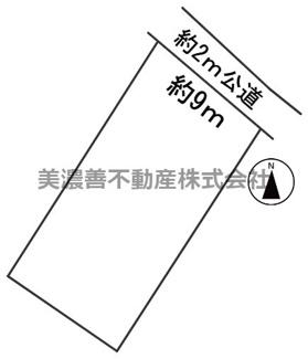 【区画図】56864 郡上市八幡町稲成土地