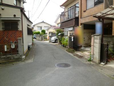 【前面道路含む現地写真】上桂前田町 建築条件無し売土地