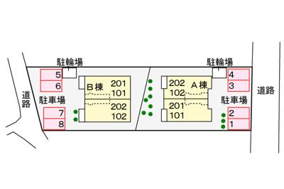 【駐車場】ニューフラットA棟