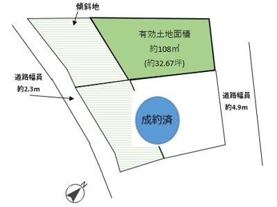 【区画図】六軒町2号地 売土地