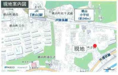 【地図】伏見区桃山町本多上野 中古戸建