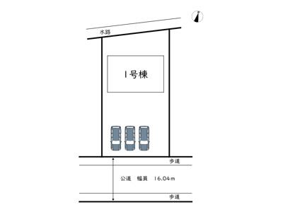 【区画図】姫路市大津区新町 2期/全1棟