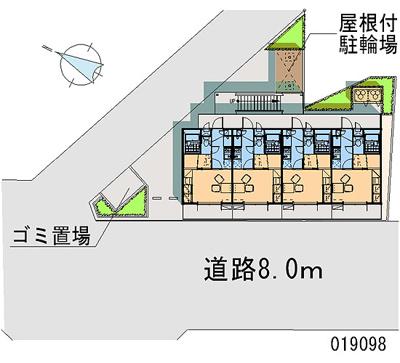 【地図】レオパレスMARUKITAⅢ