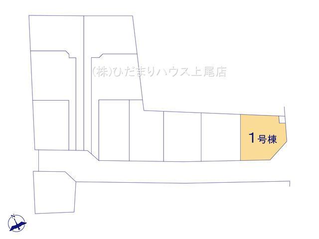 【区画図】鴻巣市松原 新築一戸建て リーブルガーデン 01