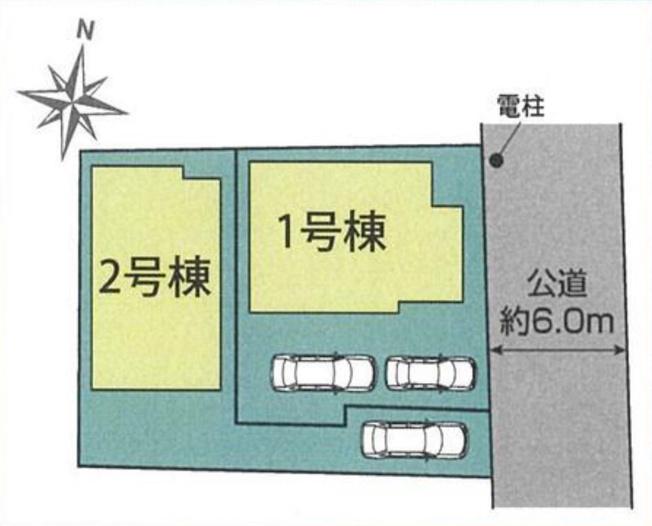 【区画図】新築 平塚市菫平 2号棟