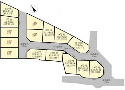 【区画図】大津市下阪本6丁目36 分譲地