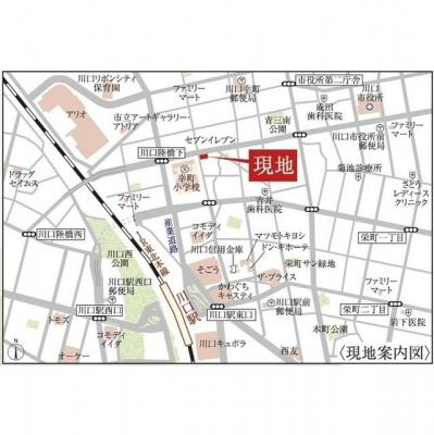 【地図】アクシーズタワー川口幸町Ⅱ
