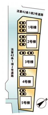 【区画図】大津市雄琴5丁目13 新築分譲