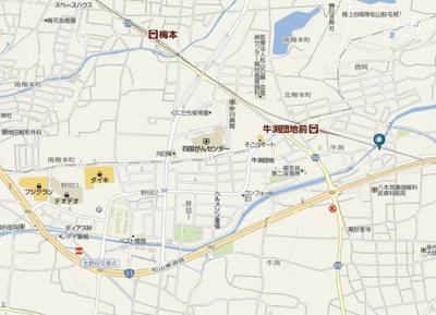 【地図】リバーサイドマンション
