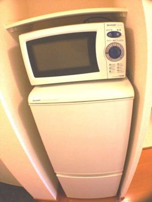なんと、冷蔵庫・電子レンジも付いています