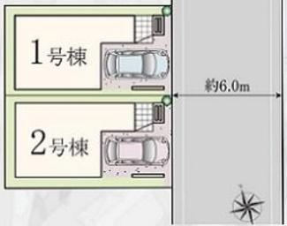 【区画図】横浜市鶴見区汐入町2丁目 新築戸建 2号棟