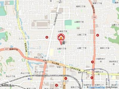 【地図】サン山越