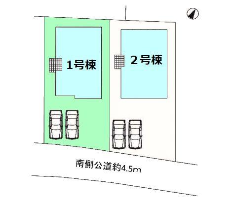 【区画図】現地写真掲載 新築 前橋市駒形町KF1-1