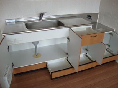 スライド収納付キッチン
