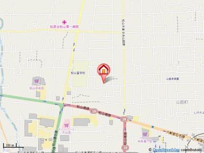 【地図】メゾン北斗