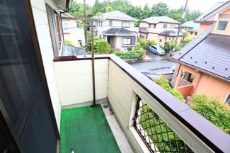 佐倉市白銀 中古戸建 京成佐倉駅 南向きで日当たりの良いバルコニー。