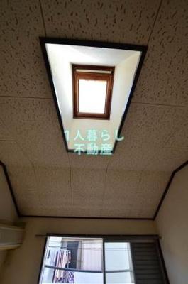 天井からも明かりが入ります
